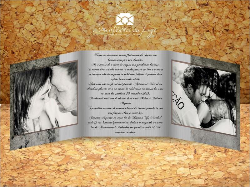 Invitatie De Nunta Cu Poze Model Amore Invitatii Cu Poze