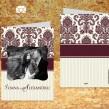 Invitatie de nunta cu poze motiv floral cu dungulite